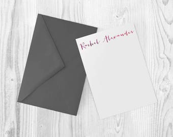 Custom Stationery, Printable Letterhead, Watercolor Card
