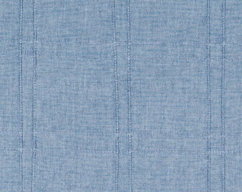 Blue Pleated Upholstery Fabric
