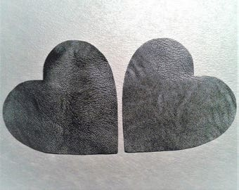 Lot of 2 hearts elbow pads in imitation leather