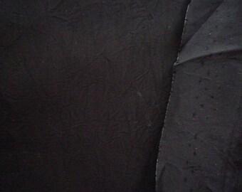 Fluid polyester black 50 * 100 cm wide fabric