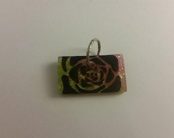 Key Lime and Pink Lemonade Rose Pendant