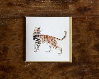 Leopard Cat Greeting Card