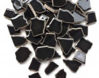 Jigsaw Mosaic Tiles - Charcoal 100g (3.5 oz)