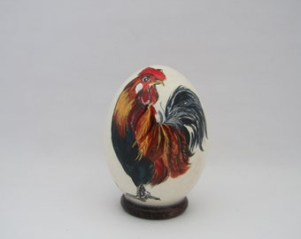 real goose egg painted