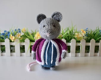Dora Mouse toy knitting patterns