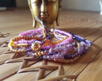 Hippie bracelet MULTISTRAND Bohemian