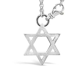 Sterling Silver Star of David Keychain