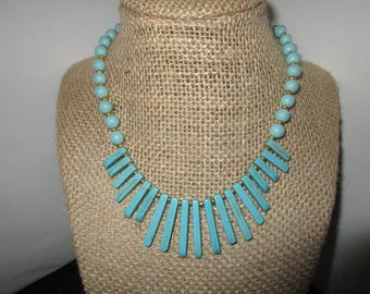 Light Turquoise Spike Necklace