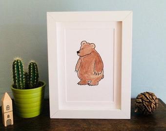 Mr Bear Print (unframed)