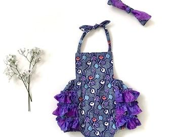 Pinafore Playsuit   Bib Style Bodice   Baby Romper   Bodysuit   Toddler Romper   Handmade Playsuit   Penny Romper   Girls Romper