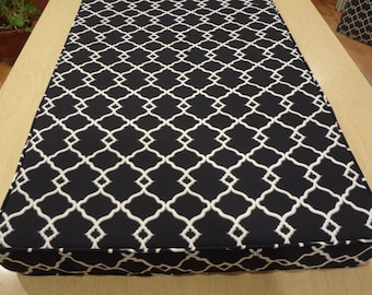 """Window Seat Cushion Cover,YourFabric Selection, 83.5"""" x 21"""" x 3"""",Includes piping and zipper. Made to Order.You Pay Shipping."""