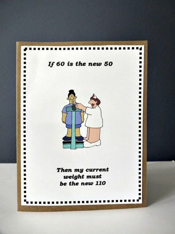 Funny happy birthday card weight card funny 50th 60th 70th like this item bookmarktalkfo Images