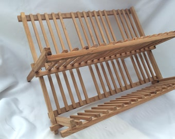 Vintage Wood Plate Drying Rack