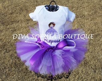 Princess Sofia the First Ribbon Tutu Set Personalized