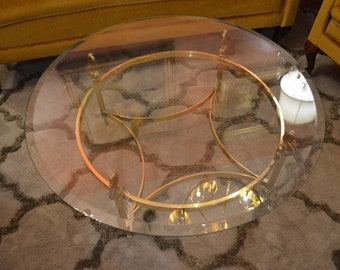 Vintage Round Gold Coffee Table