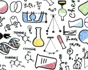 Chemistry Science Cotton Fabric