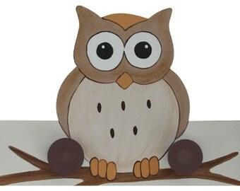 Woodland Owl Hooks / Hangers - Owl Nursery Hooks