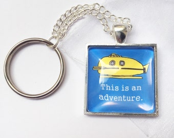 "The Life Aquatic ""This Is An Adventure"" Inspired Handmade Keychain"