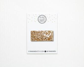 Gold glitter snap clip