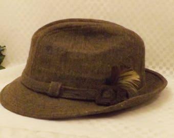 Vintage Stetson Brown Wool Felt Fedora Size 7 1/4