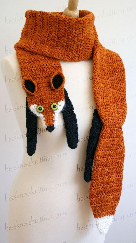 Digital Pdf Crochet Pattern For Fox Scarf Diy Fashion