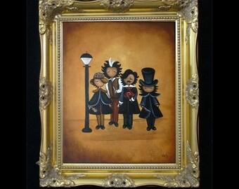 Gothic Dark  Caricature Art Print - Notorious - Sherlock - Sweeney - Poe - Jack