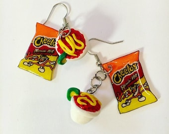Hot Cheetos Elote Earrings