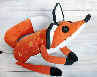 The little prince fox toy Mr Fox Stuffed animal Fox plush 65cm with organic heating pad Forest animal Plush for sleep