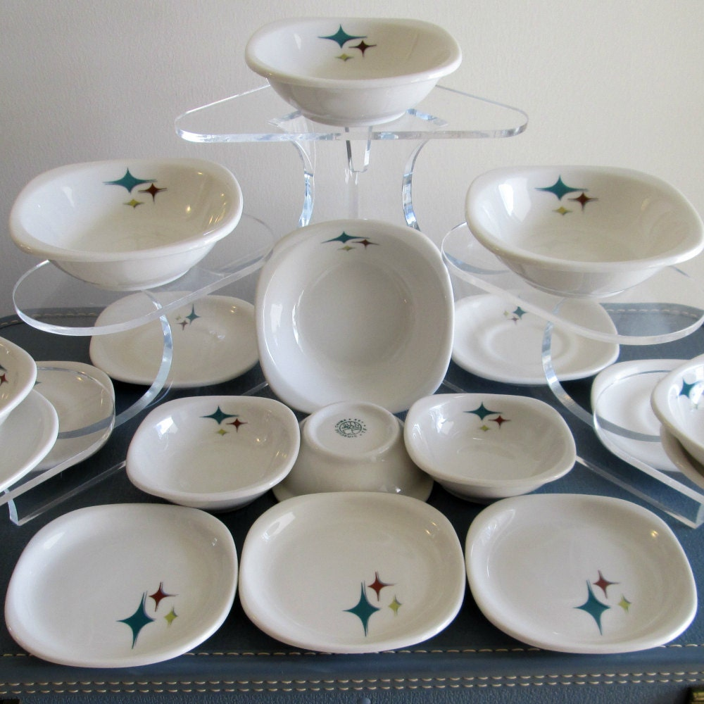 Mid Century Modern Atomic Syracuse China SMALL PLATE Trend