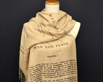 War and Peace by Leo Tolstoy shawl/scarf - english version
