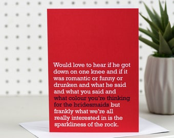 The Sparkliness Of The Rock - Engagement Card