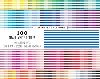 100 small white stripes, Digital paper, Commercial use, digital stripes paper digital scrap booking paper white striped pattern [DOWNLOAD]