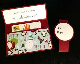 Yuletide gift card holder