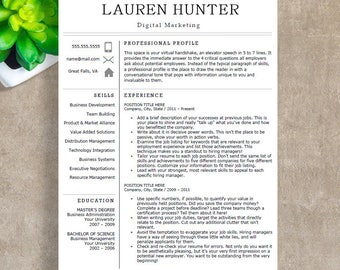 modern profile in resume