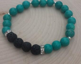 Turquoise Essential Oil Diffusing Bracelet