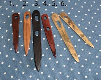Viking Nalbinding needles; wood or bronze