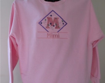 Mimi Signature Series Sweatshirt, Name, Personalized, Embroidered