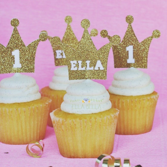 Crown cupcake toppers, Princess/prince Theme Party