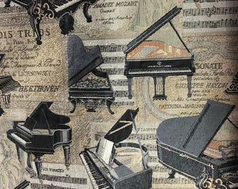 Piano Tappestry Fabric