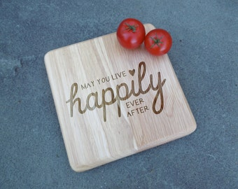 Happily Ever After Cutting Board, Personalized Cutting Board, Custom Cheese Board, Custom Cutting Board, Custom Wedding Gift, Shower gift