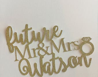 Future Mr & Mrs Cake Topper - personalised cake topper