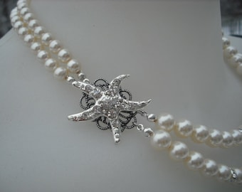 Bridal necklace bridesmaid necklace STARFISH Version 3