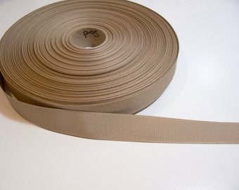 Beige Ribbon, Sand Grosgrain Ribbon 7/8 inch wide x 5 yards
