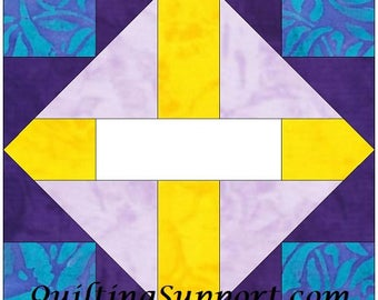 The Crossing 10 Inch Paper Piece Foundation Quilting Block Pattern PDF