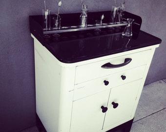 Hamilton Dental / Medical Cabinet Art Deco Metal Cabinet