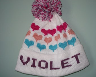 Homemade machine washable knit hat :   Violet, Chloe, Emery, Cassidy or Angie