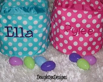 Easter basket, Personalized Easter basket, Easter bucket, Easter tote, collapsible tote, Personalized Easter bucket, Monogrammed Easter tote