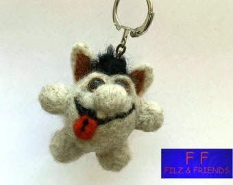 Monster key fob, toothed raff