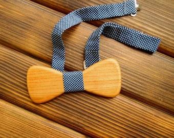 Graduation gift Wood bow tie  Boyfriend gift Polka dot bow tie Wedding Groomsmen tie Wood anniversary gift Bow tie sale