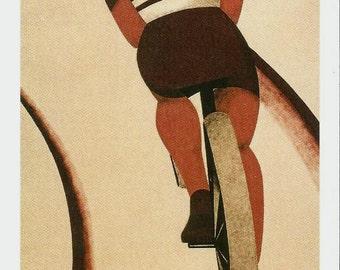 """Le Cycliste (3.5"""" x 5.5"""" Postcard)"""